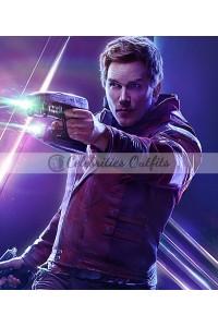 Star-Lord Avengers Infinity War Chris Pratt Leather Jacket