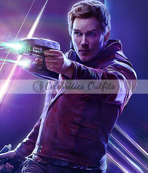Star-Lord Avengers Infinity War Chris Pratt Leather Jacket