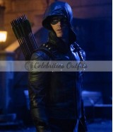 Grant Gustin The Arrow Oliver Queen Leather Jacket