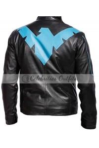 Batman Arkham Knight Nightwing Black Leather Jacket