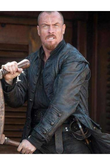 Captain Flint Leather Costume Coat Black Sails Season 3
