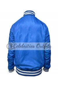 Suicide Squad Captain Boomerang Blue Satin Jacket