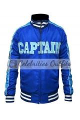 Suicide Squad Captain Boomerang Blue Satin Jacket