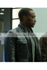 Falcon Captain America Civil War Sam Wilson Leather Jacket