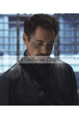 Captain America Civil War Tony Stark Leather Jacket