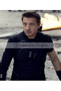 Captain America Civil War Clint Barton Hawkeye Leather Jacket Vest