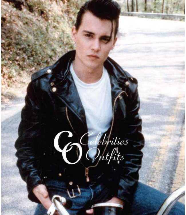 ... cry-baby-johnny-depp-motorcycle-jacket ...  sc 1 st  Celebrities Outfits & Cry-Baby Movie Johnny Depp Wade Walker Motorcycle Jacket