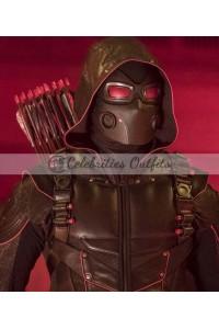 Dark Arrow Crisis On Earth-X Stephen Amell Hooded Jacket