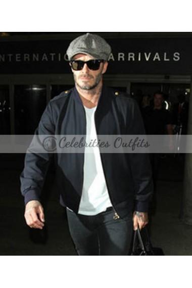 David Beckham Bomber Style Suede Leather Jacket