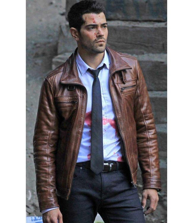 Chase Dead Rising Watchtower Jesse Metcalfe Brown Jacket