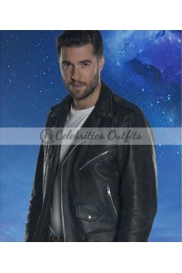 Krasko Doctor Who Josh Bowman Black Leather Jacket