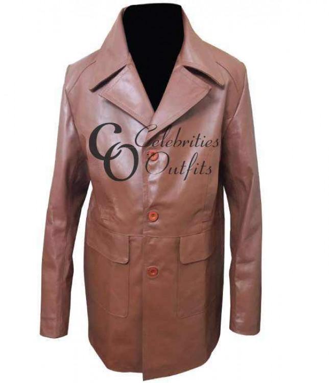 97d07a0fffd Donnie Brasco Johnny Depp Brown Replica Leather Jacket