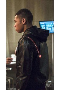Firestorm Flash Season 2 Black Hoodie Leather Jacket