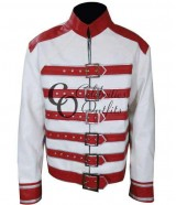 Freddie Mercury White/Red Concert Replica Leather Jacket