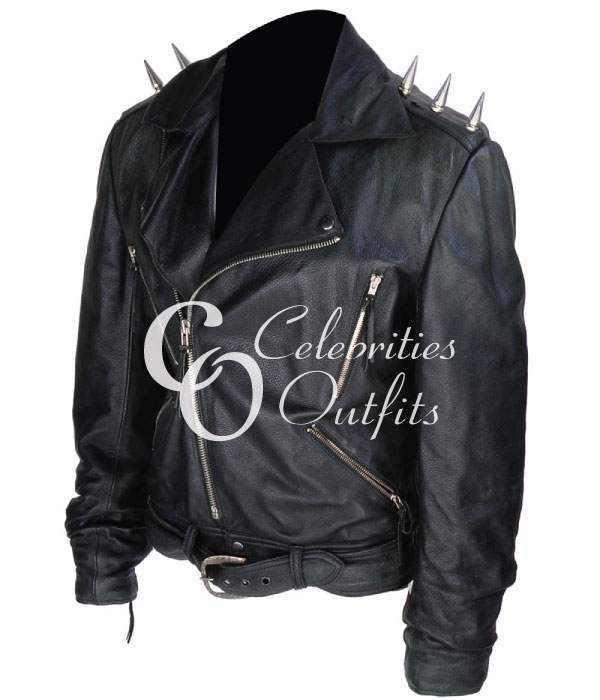 Nicolas Cage Ghost Rider Black Motorcycle Leather Jacket