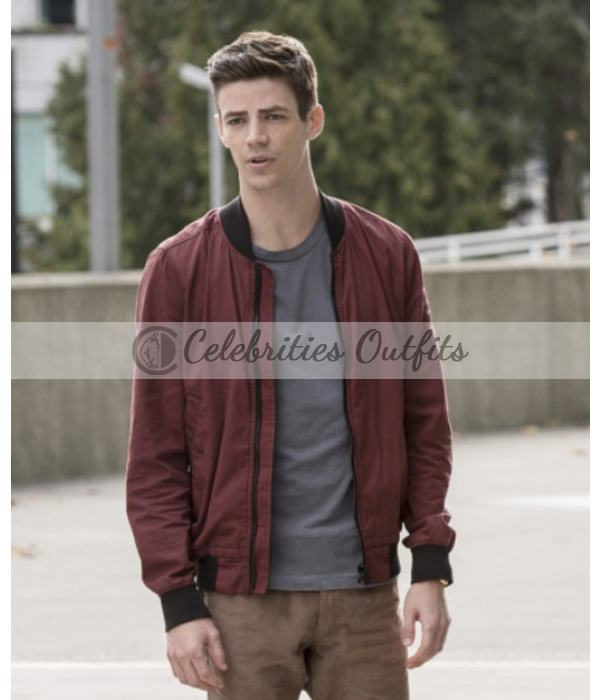 The Flash Grant Gustin Varsity Jacket