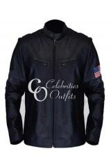 Swordfish Hugh Jackman Stanley Black Leather Jacket