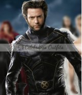 Hugh Jackman Wolverine Logan X-Men Black Leather Jacket