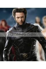 Hugh Jackman Wolverine Logan X-Men Black Leather Jacket