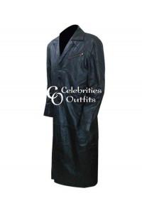 I Robot Will Smith Black Leather Jacket Coat