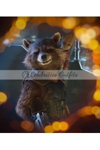 Avengers Infinity War Rocket Raccoon Leather Vest