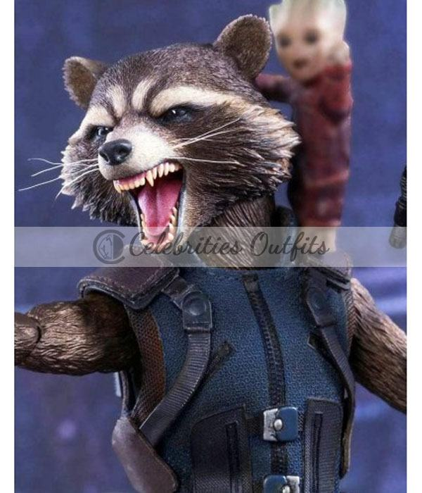 Avengers Infinity War Rocket Raccoon Leather Vest