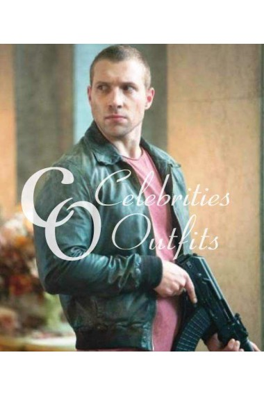 A Good Day to Die Hard Jai Courtney Bomber Leather Jacket