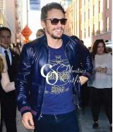 James Franco Blue Bomber Stylish Leather Jacket