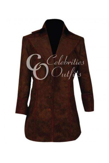 Alice in Wonderland Johnny Depp Brown Leather Coat
