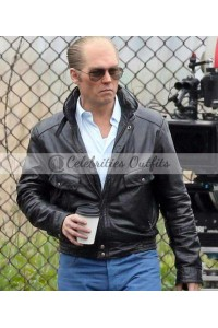 Black Mass Johnny Depp Black Leather Jacket