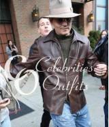Charles Mortdecai Johnny Depp Brown Leather Jacket