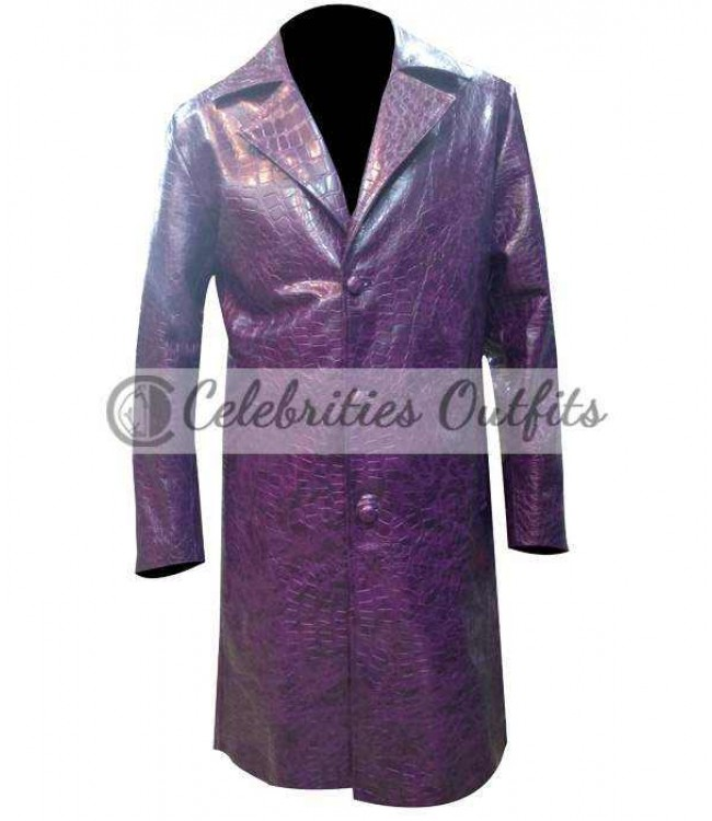 0ad707342 Jared Leto Joker Suicide Squad Trench Coat Costume