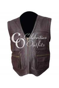 Jurassic World Chris Pratt Owen Biker Leather Vest