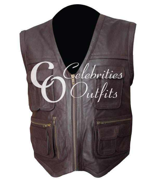 Jurassic World Chris Pratt Owen Biker Leather Vest