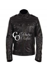 Justin Timberlake Black Designer Leather Jacket