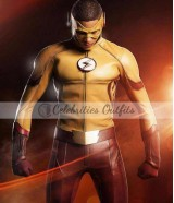 Flash S3 Wally West Kid Flash Leather Jacket