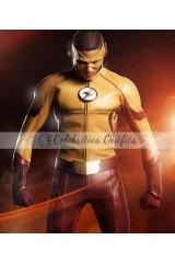 Flash S3 Wally West Kid Flash Leather Jacket