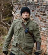 John Travolta Killing Season Green Cotton Jacket
