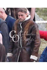 Charlie Hunnam Knights of the Roundtable Brown Fur Coat