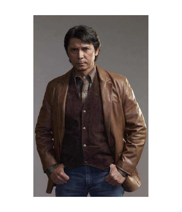 210d709a7 Longmire Lou Diamond Henry Standing Leather Jacket