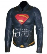 Superman Man Of Steel Replica Leather Costume Jacket
