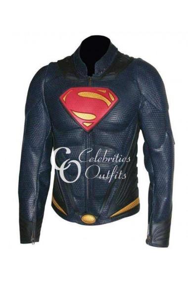 Superman Man Of Steel Replica Leather Costume Jacket