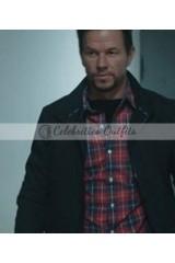 Mile 22 Mark Wahlberg Black Cotton Jacket
