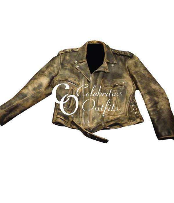 Wesley Snipes Passenger 57 Distressed Leather Jacket