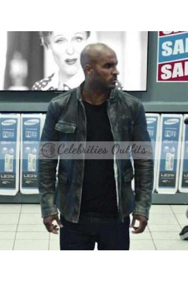 American Gods Ricky Whittle Distressed Leather Jacket