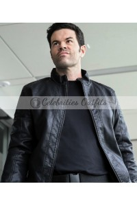 Supergirl S4 Robert Baker Black Leather Jacket