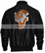 Rocky II Sylvester Stallone Tiger Black Jacket