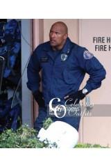 Dwayne Johnson San Andreas Blue Cotton Bomber Jacket