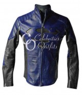 Superman Smallville Blue And Black Designer Leather Jacket
