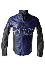 Superman Smallville Blue And Black Designer Leather Jacket